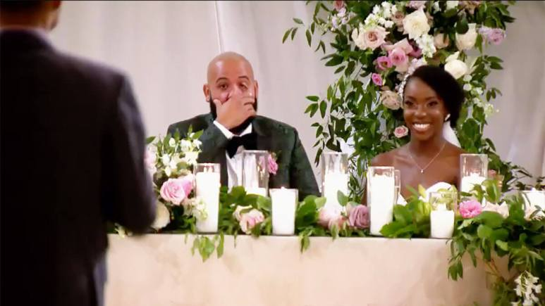 MAFS Season 12 couple Vincent and Bri at their wedding
