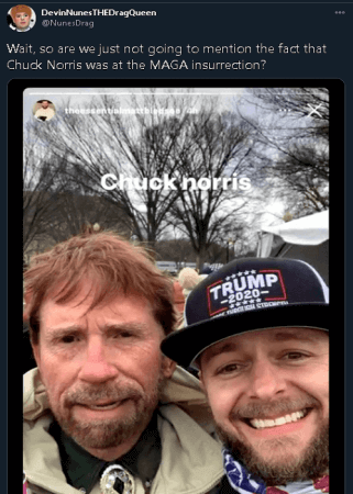 Chuck Norris lookalike at Capitol riots