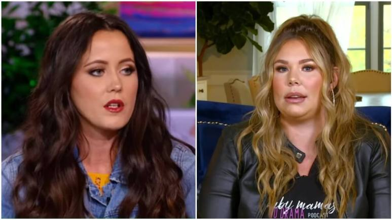 Jenelle Evans and Kail Lowry during a Teen Mom 2 reunion