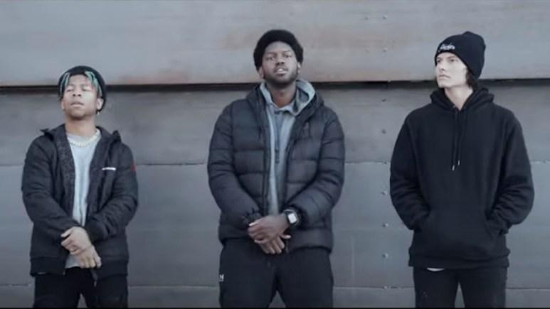 the challenge stars lio rush joseph allen and jay starrett appear in stone cold music video