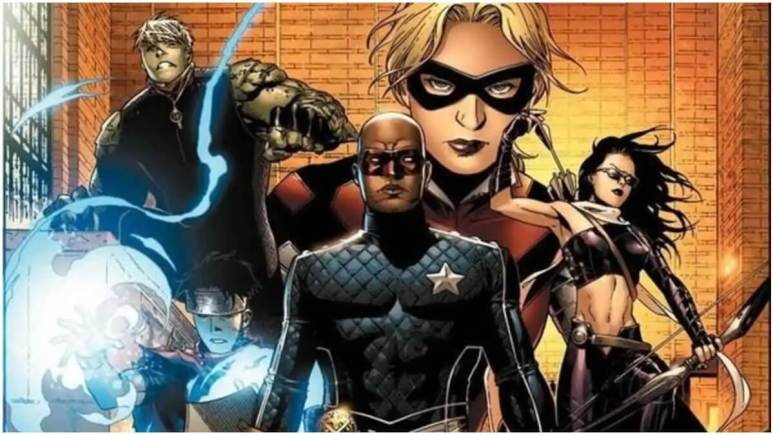 Young Avengers from the Marvel Comics