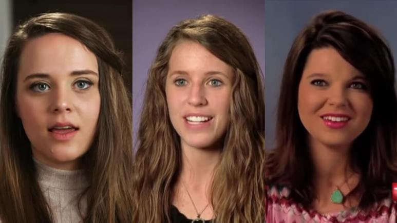 Jinger, Jill, and Amy Duggar in confessionals.