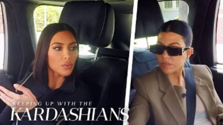 Kim and Kourtney Kardashian on KUWTK