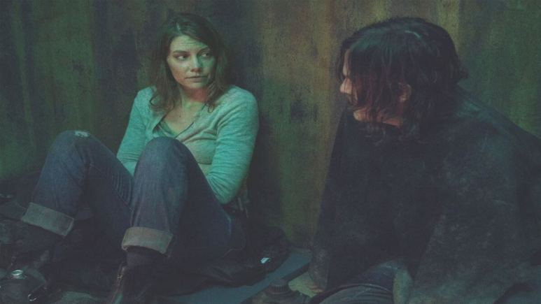 Lauren Cohan stars as Maggie and Norman Reedus as Daryl Dixon in Season 10C of AMC's The Walking Dead