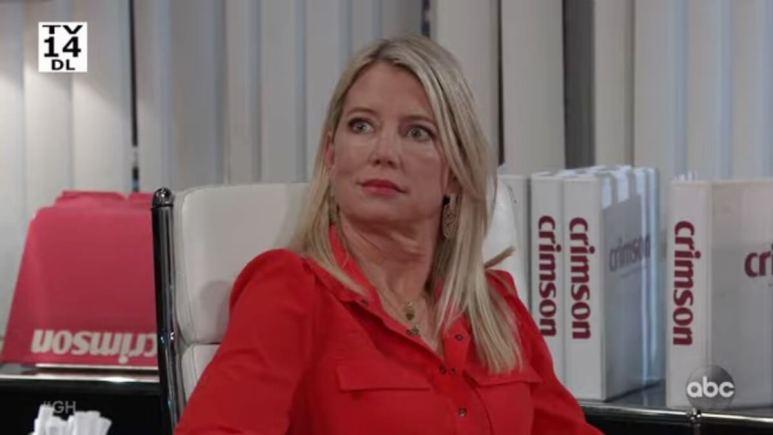 Cynthia Watros as Nina on General Hospital.