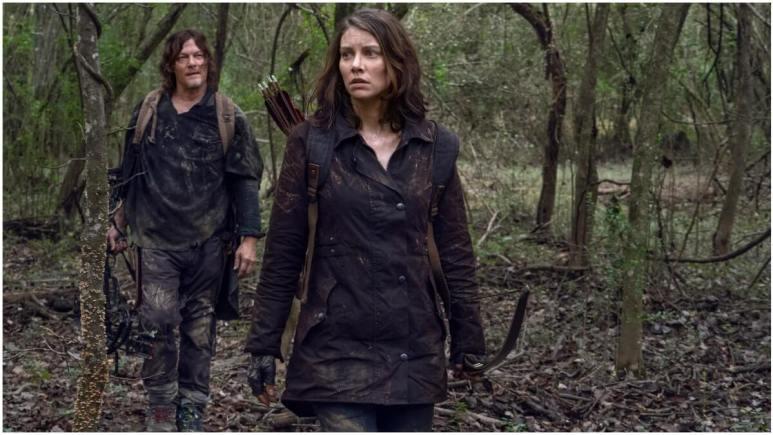Norman Reedus as Daryl Dixon and Lauren Cohan as Maggie Rhee, as seen in Episode 17 of AMC's The Walking Dead Season 10C