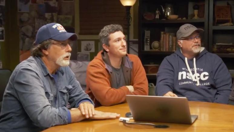 Oak Island team members in the War Room