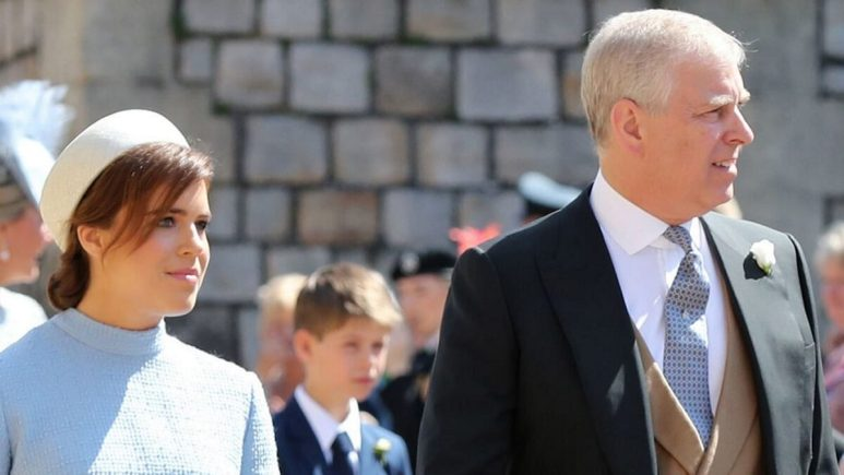 Prince Andrew and his daughter Princess Eugenie.
