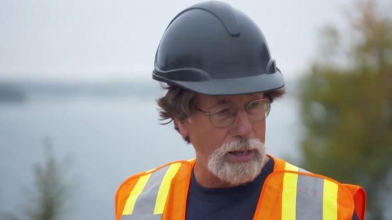 Rick Lagina at the Money Pit on Oak Island