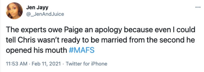 Viewers bash MAFS experts for pairing Paige and Chris
