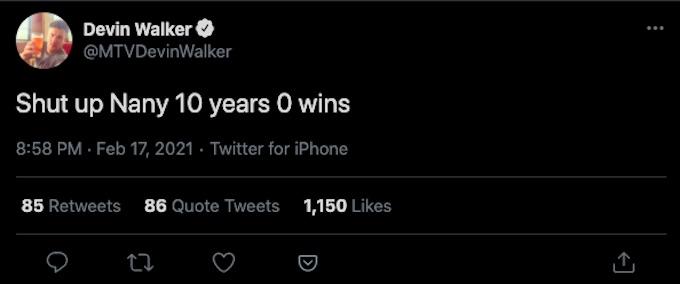 devin walker tweet about nany gonzlez double agents