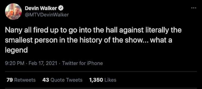 devin walker tweets about Nany gonzalez during double agents ep 10
