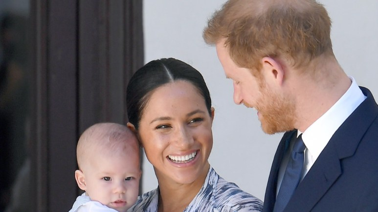Prince Harry, Meghan, and Archie attend an event