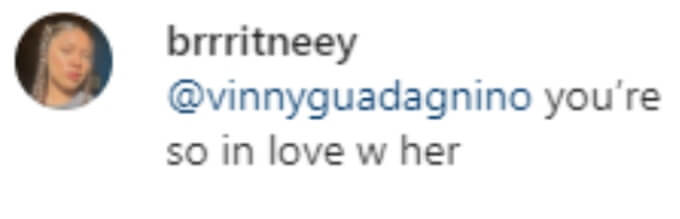 A fan thinks Vinny is in love with Angelina