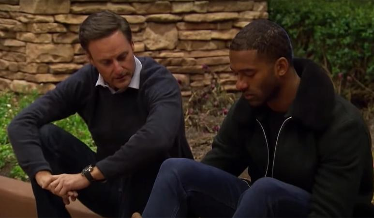 Chris giving Matt James advise in a sneak peak of the finals weeks of the Bachelor.