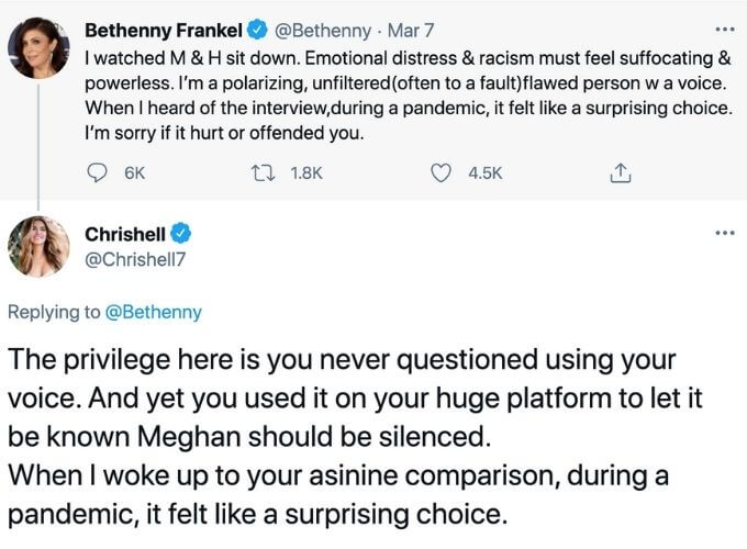 Chrishell takes aim at Bethenny.