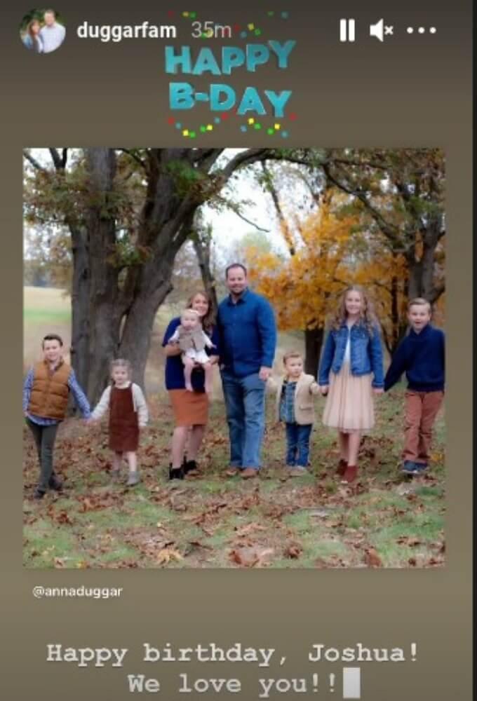 Duggar family Instagram story.