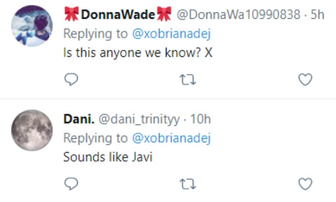 Fans wonder if the ex is someone they know or if it's possibly Javi