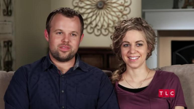 John-David Duggar and Abbie in a Counting On confessional.