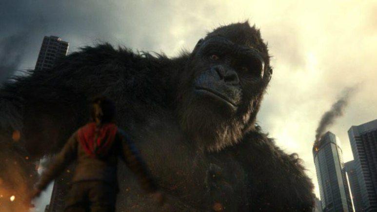 Kong and Jia (Kaylee Hottle) in Godzilla vs. Kong.