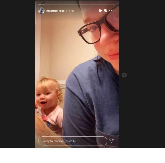 Maddie Brush of Sister Wives on Instagram