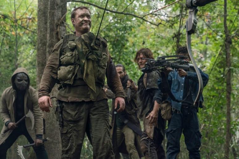 Okea Eme-Akwari as Elijah, James Devoti as Cole, Norman Reedus as Daryl Dixon, and Angel Theory as Kelly, as seen in Episode 17 of AMC's The Walking Dead Season 10C