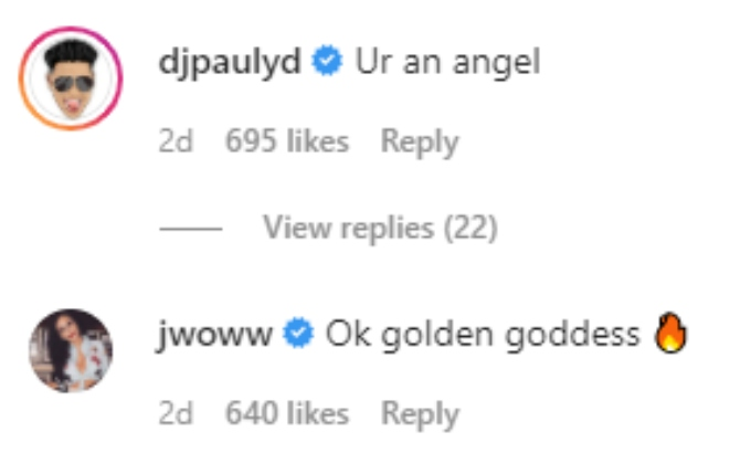 Pauly and JWOWW compliment Angelina on her Instagram post