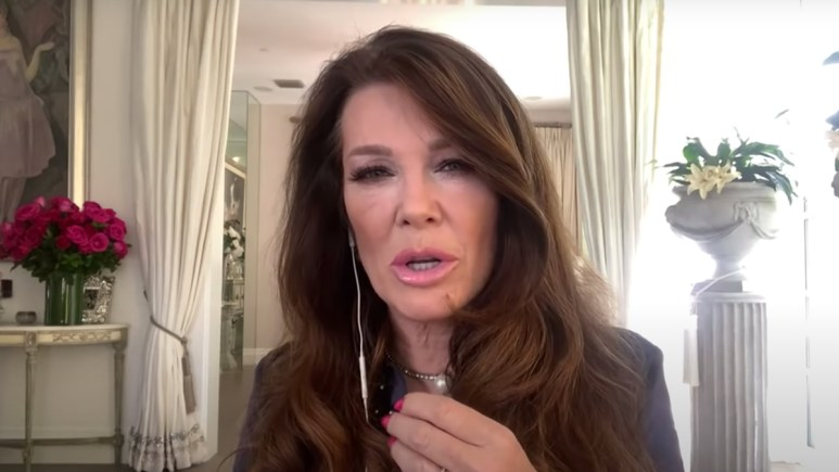 Lisa Vanderpump voicing her opinion on the Erika Jayne situation.