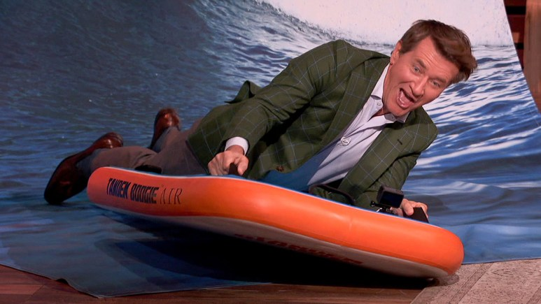 Robert Herjavec riding a Tendem Boogie board!