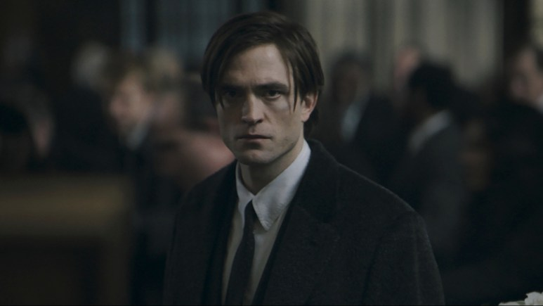 Robert Pattinson as Bruce Wayne.