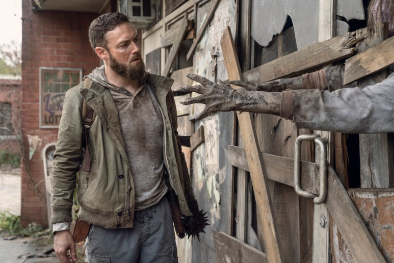 Ross Marquand as Aaron, as seen in Episode 19 of AMC's The Walking Dead Season 10C