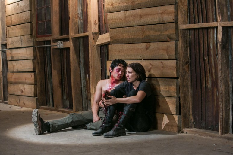 Steven Yeun as Glenn and Lauren Cohan as Maggie, as seen in Episode 8 of AMC's The Walking Dead Season 3