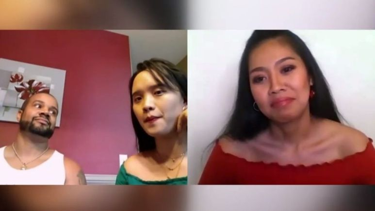 90 Day Fiance fans address the uncomfortable scene of Tarik and Hazel talking to their ex-girlfriend Minty