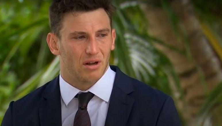 Blake Horstmann looking upset during The Bachelorette finale