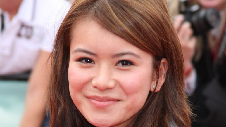 Katie Leung at a red carpet event for a Harry Potter premiere.