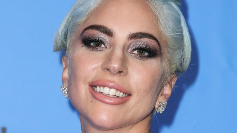Lady Gaga poses on the red carpet at the 76th Golden Globes Awards