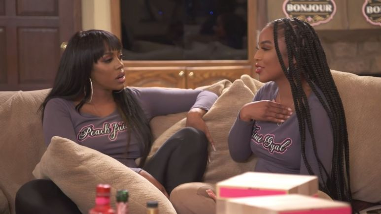 RHOA newbie LaToya Ali is in hot water after spilling the beans about Kenya Moore's personal life