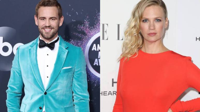 Nick Viall and January Jones on the red carpet