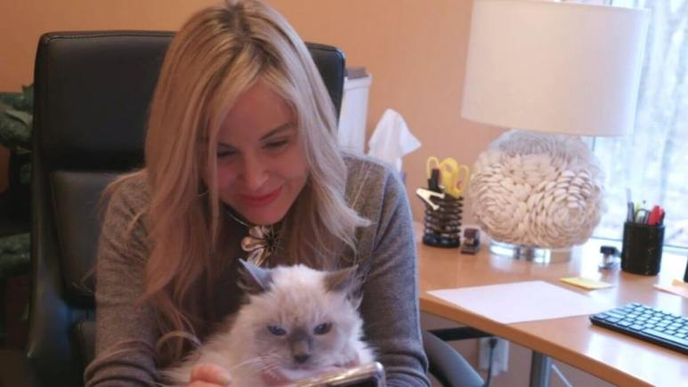 Stephanie and her cat Cooper from 90 Day Fiance