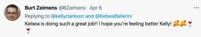 Fans likes having Kelsea on The Voice.