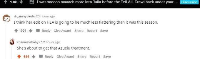 Reddit thread about Julia Trubkina