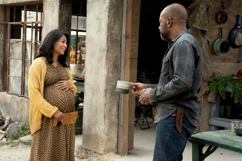 Karen David as Grace and Lennie James as Morgan Jones, as seen in Episode 10 of AMC's Fear the Walking Dead Season 6