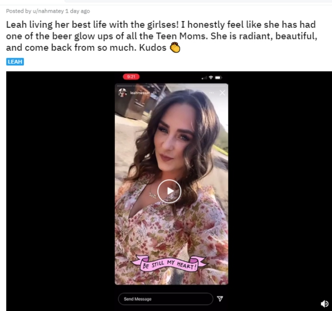 Leah Messer of Teen Mom 2 supporters on Reddit