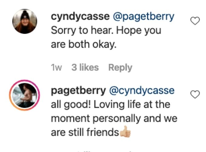 Paget confirms break up with Ciara.