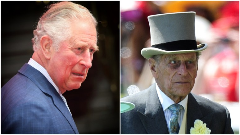Prince Charles and Prince Philip at royal events