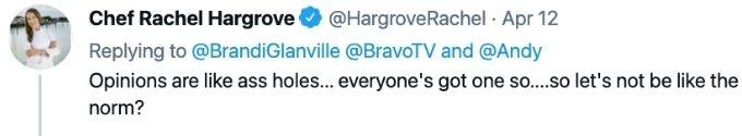 Rchel Hargrove claps back at Brandi Glanville.