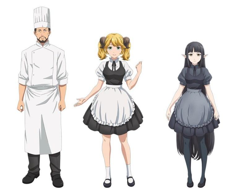 Isekai Shokudou Season 2 Character Designs