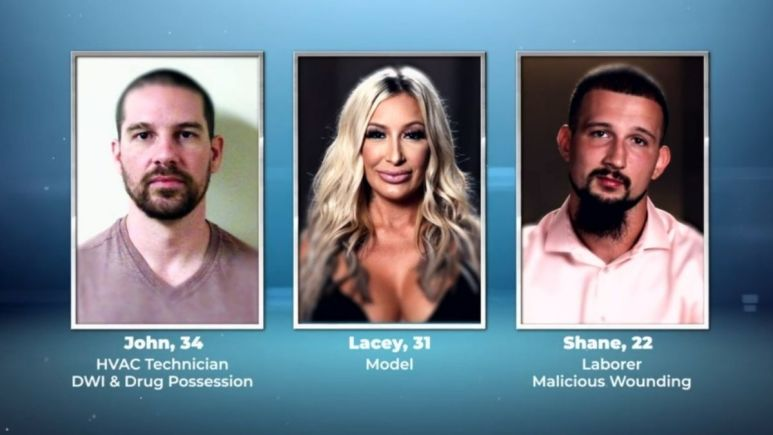 Shane, Lacey, and John from Love After Lockup