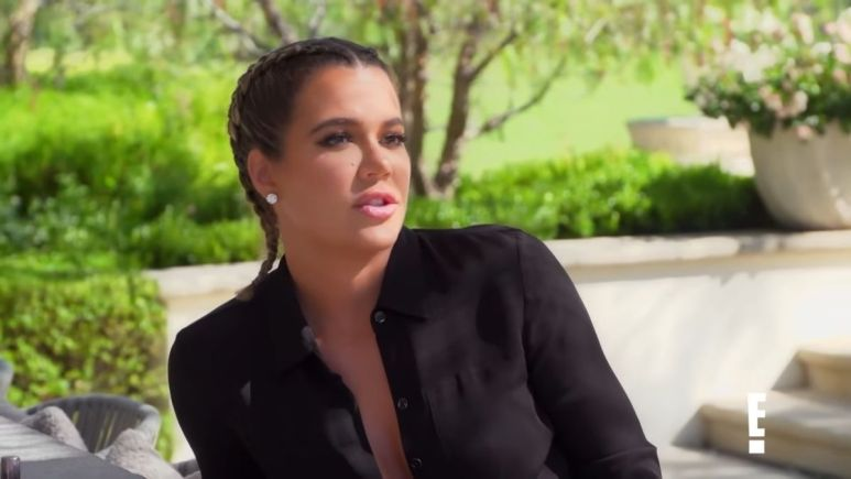 Khloe Kardashian on an episode of KUWTK