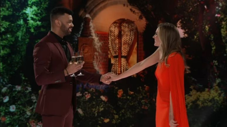 Dustin Kendrick and Hannah Brown on The Bachelorette